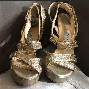 JIMMY CHOO Vamp Heels - GOLD